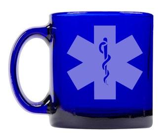 Colbalt Blue Coffee Mug 13oz -9289 EMS Logo