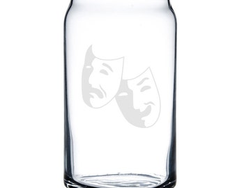 Beer Can Glass 16 oz. - 8784 Theater Mask