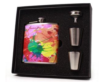 Custom Flask Gift Set // 6oz Personalized Flask