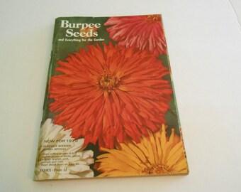 Vintage Burpee Seed catalog 1972