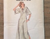 RARE 1970'S Butterick Sewing Pattern 5492 Misses Lounge Dress Caftan Size Large uncut- sewing pattern, 1970s dress,Butterick caftan pattern