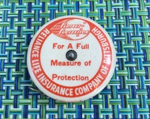 Vintage Round Advertising Sewing Tape Measure from Reliance Life Insurance Co of Pittsburgh- vintage tape measure, cloth sewing tape measure