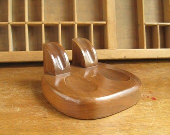 Mid Century Pipe Holder Wood MCM Pipe Holder Walnut Gift For Him