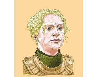 "BRIENNE 5x7"" GAME of THRONES limited edition print"