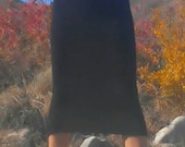Made to order, super stretchy, long, alpaca, or organic merino wool knit skirt