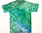 M Shibori Men's T Stella Green Tie Dye Mens Shirt