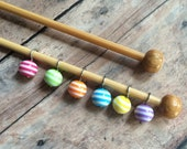 Candy Button Sock Stitch Markers - Set of 6 for your project bag