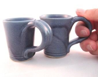 Small Shot Glass - Whisky mug - Glazed in Denim Jeans Blue