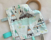 Fox in the Mountains Teething Taggie - Perfect Baby Shower Gift!