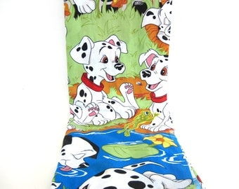 Vintage 101 Dalmatians Twin Flat Bed Sheet Dalmation Material Yardage Disney Puppies Playing Outdoor Dogs Children's Room Decor