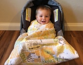 Infant Car Seat Blanket- Animal ABC Sung L Bee