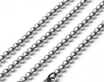 SALE 15 Feet Ball Chain, 3.2mm, Necklace Bracelet Nickel Free Antique Silver Unfinished Link, A11-002