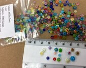 MILLEFIORE MIXED GLASS Decorative Cabochons Approx 200 in Bag