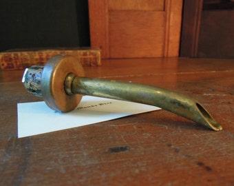Vintage Brass and Copper Pour Spout for Wine / Olive Oil / Soap / Cork Stopper / Barware / Liqour Spout / Dispensers Dishsoap Spout