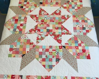 Patchwork Swoon Quilt designed by Thimble Blossoms with Bonnie and Camille fabrics
