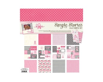 Simple Stories Collection Hope Scrap-booking Collection Kit Paper and Stickers