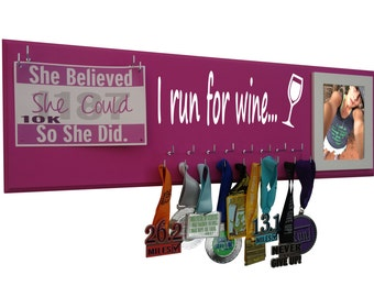 Running medals holder - holder for medals - medals holder - running medals holder - Will run for wine