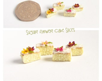 Sugar Flower Cake Slices