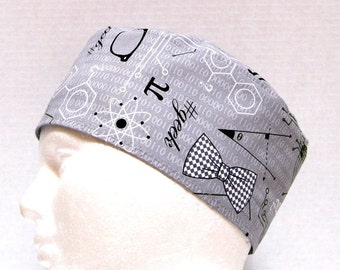 Mens Scrub Hat or Surgical Scrub Cap for the Geek
