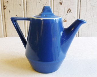 Vintage Hall Cadet Blue Individual Teapot - Amtrak National - 1-1/2 Cup Teapot - Hard to Find -1960s
