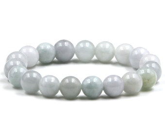 10mm Jade Bracelet Natural Jadeite Jade Gemstone Charm Beaded Bracelet  T2827