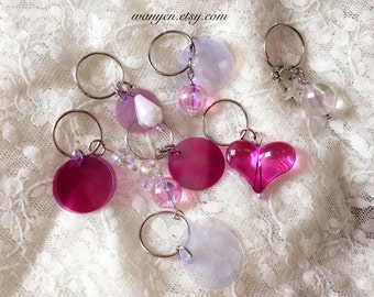 Hair Rings Set, Sailor Moon Purple Angel Hair Rings attach to your braids, twists and to all style hair, Kawaii Lolita Style Hair Rings