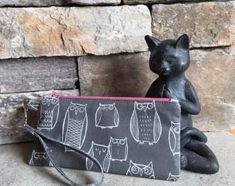Little owl zipper pouch.