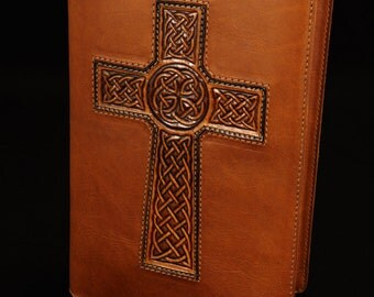 Leather Journal, Brown Leather Diary: Cognac Celtic Cross Journal