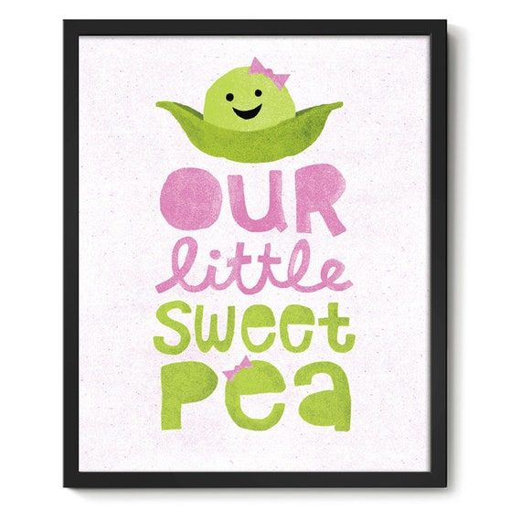 Lil' Sweet Pea Nursery Art Print