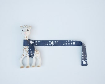 Toy Tether - Grey Polkadot with white snaps