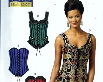 Butterick B5662 Corset Bustier Making History Costume Sewing Pattern 5662 Size 14, 16, 18 and 20 Steampunk Renaissance Medieval Uncut