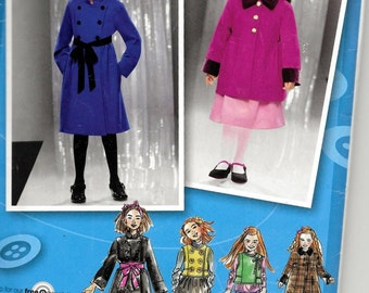 Simplicity 2534 Girls Child's Coat, Jacket And Vest Sewing Pattern UNCUT Size 7, 8, 10, 12, 14