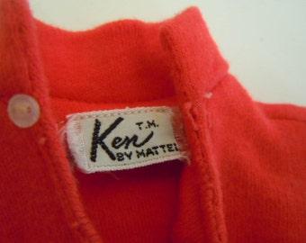 Ken Doll Red Polo Shirt White Undershirt Doll Clothing