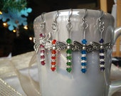 Dragonfly Earrings with Swarovski Crystal and Pewter Wings