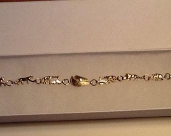 Noah's Ark Charm Bracelet 10k Yellow Gold Fine Jewelry Gorgeous Gift SALE