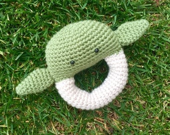 Yoda Star Wars Inspired Rattle/ Plush Toy/ Stuffed Toy / Soft Toy/Amigurumi Toy-  MADE TO ORDER