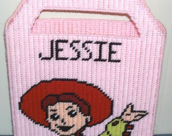 Jessie from Toy Story Tote Bag Plastic Canvas Pattern
