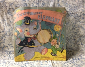 Fuzzy Wuzzy Elephant Book Nursery Decor Repurpose 1944 Pat Sanchez