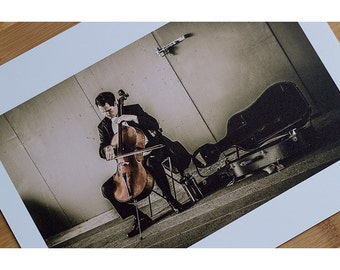 Street Musician High Quality Matte Print Photograph Multiple Sizes Available