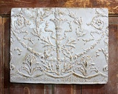 Gray Rusty Vintage Tin Ceiling Tile Wall Hanging