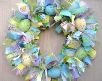 Easter Egg Wreath, Easter Wreath, Easter Decor, Easter Decoration, Spring Wreath, Easter Table Decor, Easter Centerpiece, Easter Home Decor