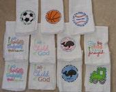 Bible Verses Burp Cloth SINGLES - set 2