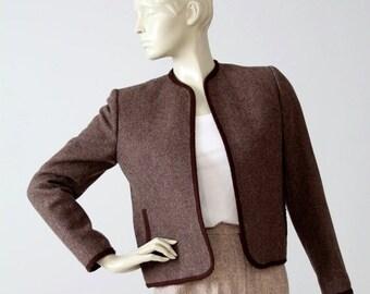 SALE 1970s Evan Picone wool jacket, women's open blazer