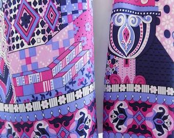 1980s Adrienne Llandau silk scarf, Moorish Architectural design