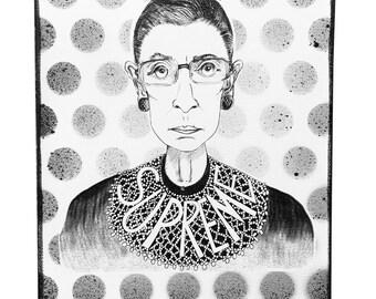 Ruth Bader Ginsburg Painting - Notorious RBG