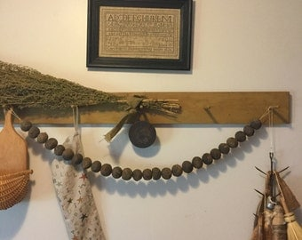 Primitive Black Walnut Garland