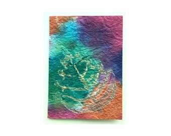 Autumn Leaves  1 - Blank card / Artisan Handmade Paper 4.25x6.5 (AHMP-0001)