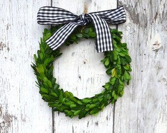 Small Preserved Boxwood Wreath French Style Decor Wedding Rustic Vintage style