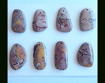 8 PCS Chohua Jasper Gemstone Beads,29x13x6mm,16x17x5mm,26g