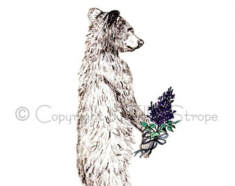 CARD, Mothers Day Card, Mothers Day, Bear, Bear Drawings, Bear Decor, Bear Cub, Greeting Cards, Special Occassions, Drawings, Ellen Strope